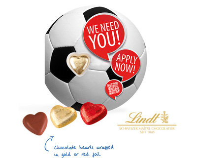 Lindt Football Themed Business Card