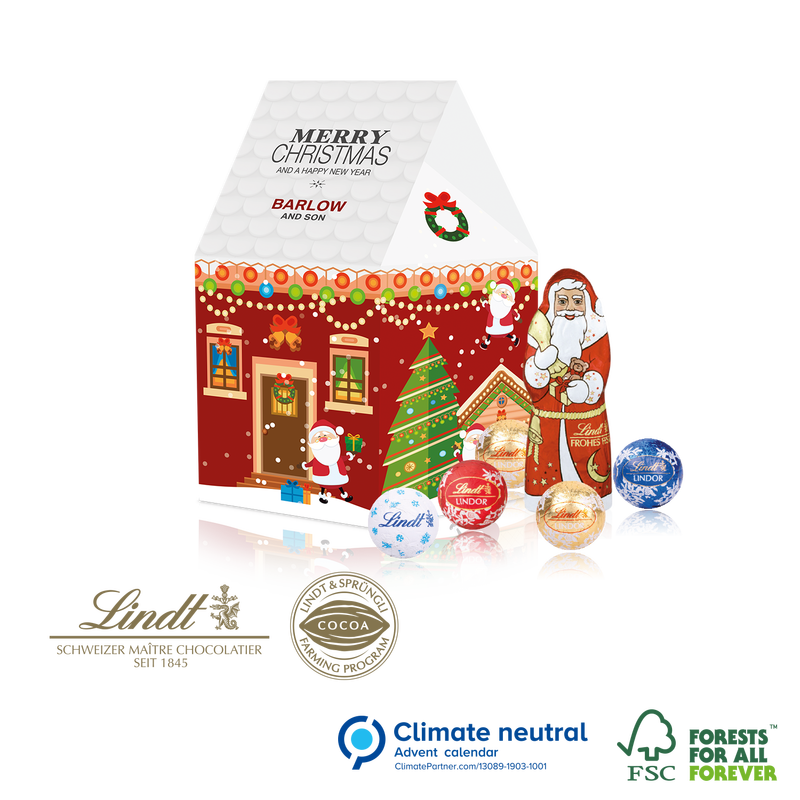Lindt Luxury Christmas House Gift Box