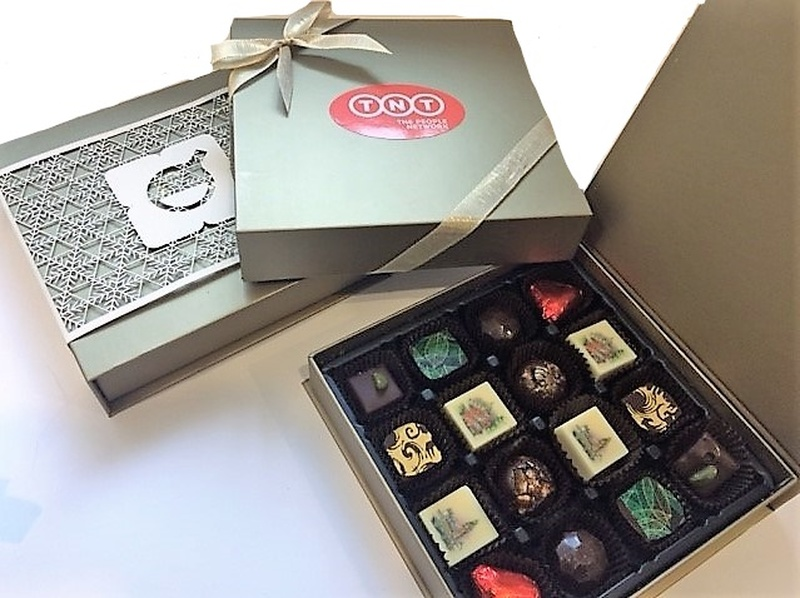 Luxury Handmade Chocolates with Printed Logos