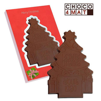 Personalised Chocolate Christmas Tree with Your Logo