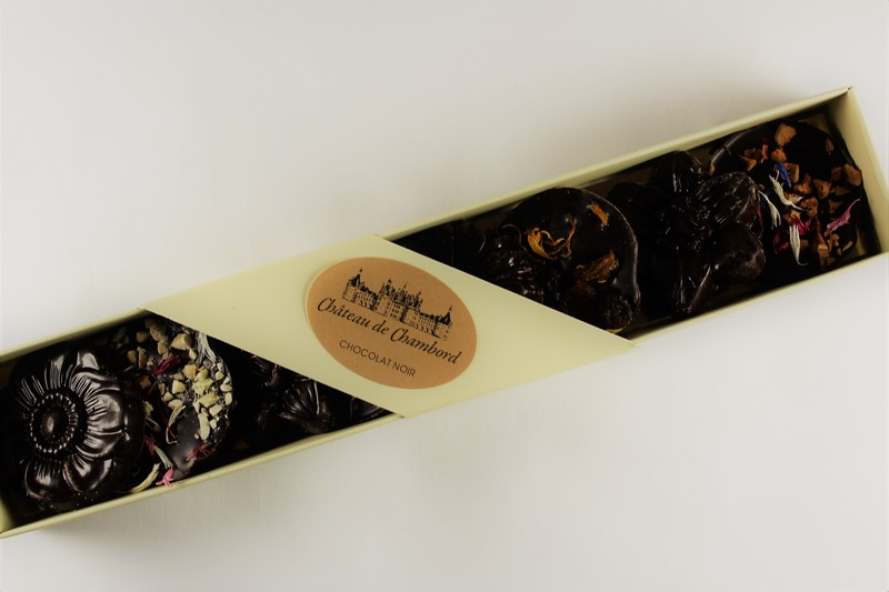 Organic Dark Chocolate Flowers in a Personalised Box