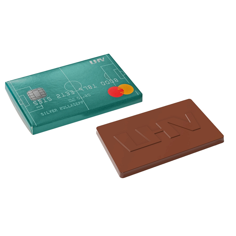 Personalised Moulded chocolate credit card