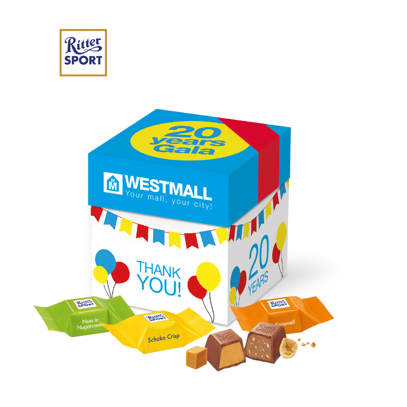 Personalised Gift box with Ritter Sport