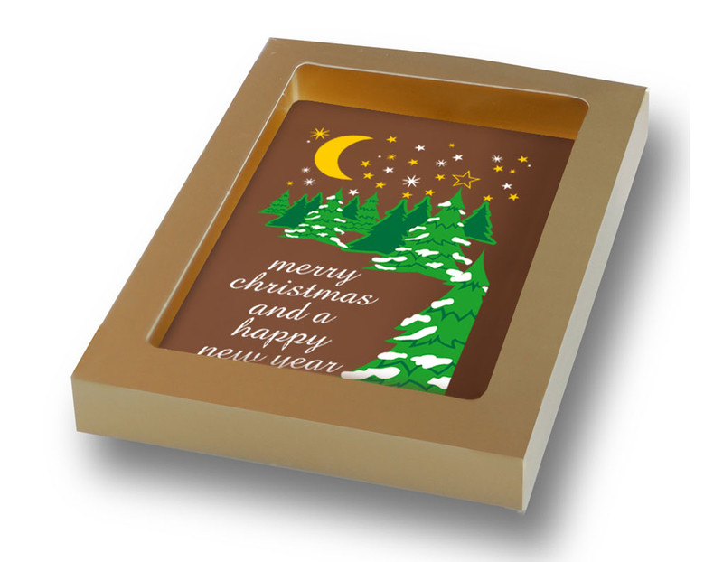 Personalised Chocolate Christmas Card