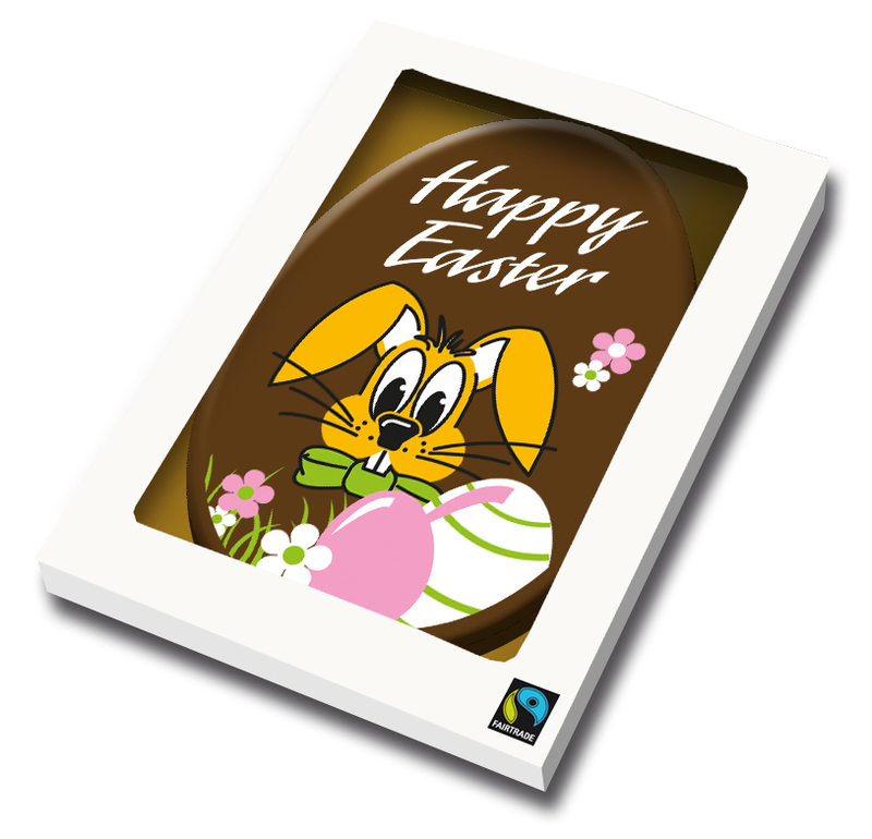 Branded Belgian chocolate Easter Card