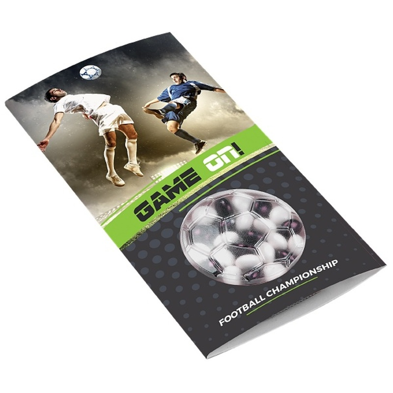 Promotional football mints card