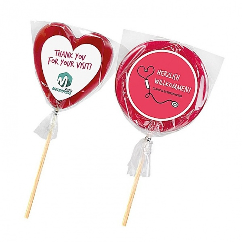Personalised Heart or Round Shaped Lollipop