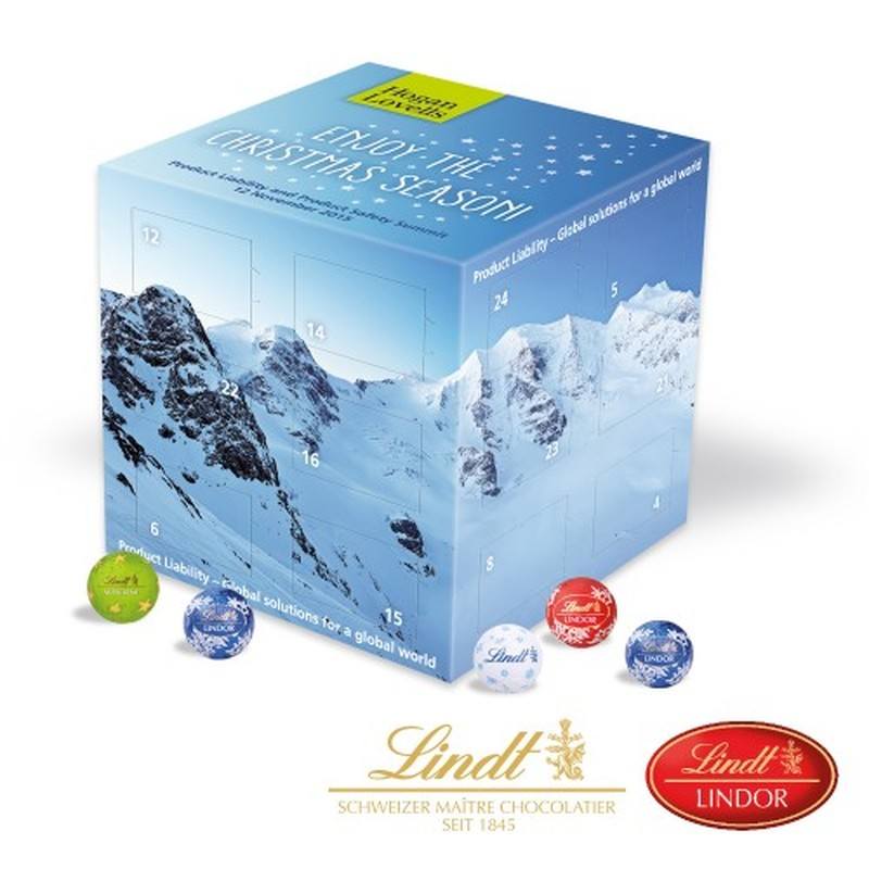 Promotional Lindt Advent Calendar Cube
