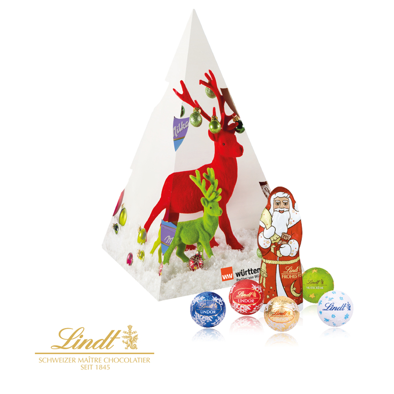 Personalised Lindt Christmas Pyramid