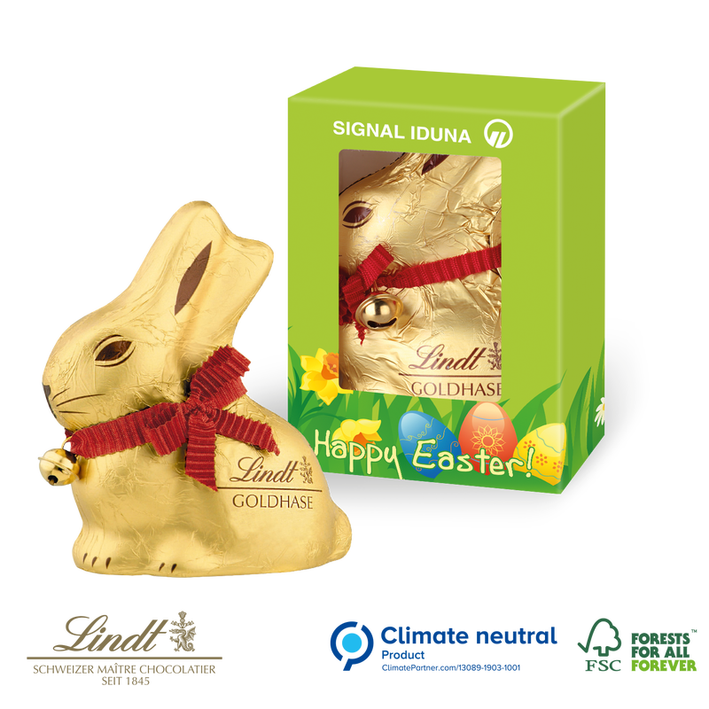 Lindt bunny in personalised box100g