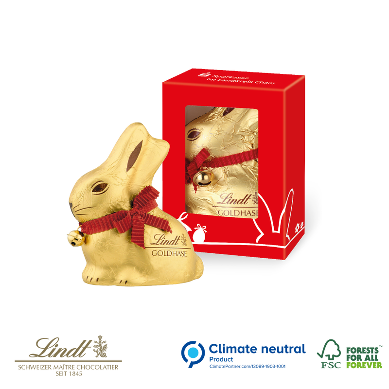 Lindt bunny in personalised box 50g