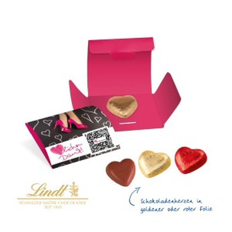 Lindt Heart Mono Card