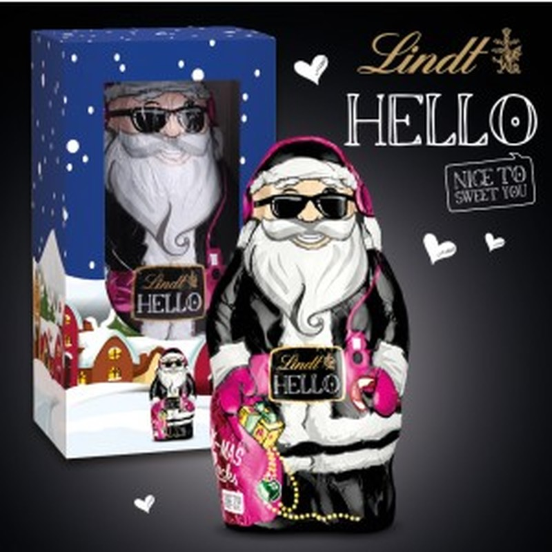 Lindt Hello Personalised boxed Santa
