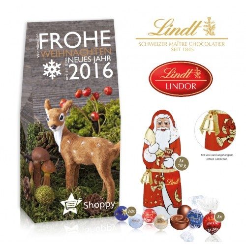 Personalised Lindt Christmas Gift Pouch