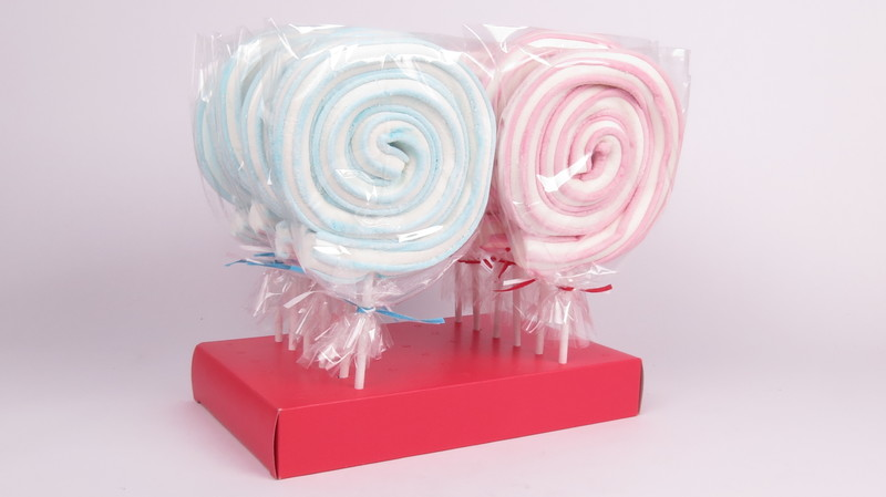 Swirly Marshmallow Lollipop