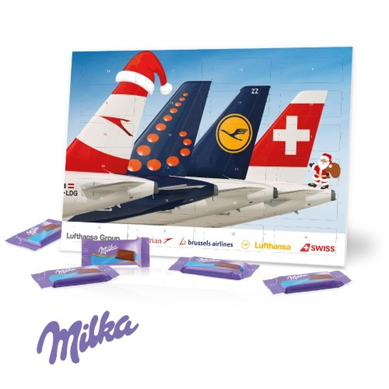 Personalised Desktop Milka Chocolate Calendar