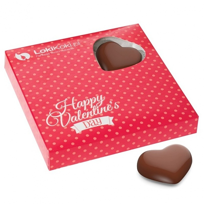 Personalised 4 Chocolate Heart Valentine's Gift Box