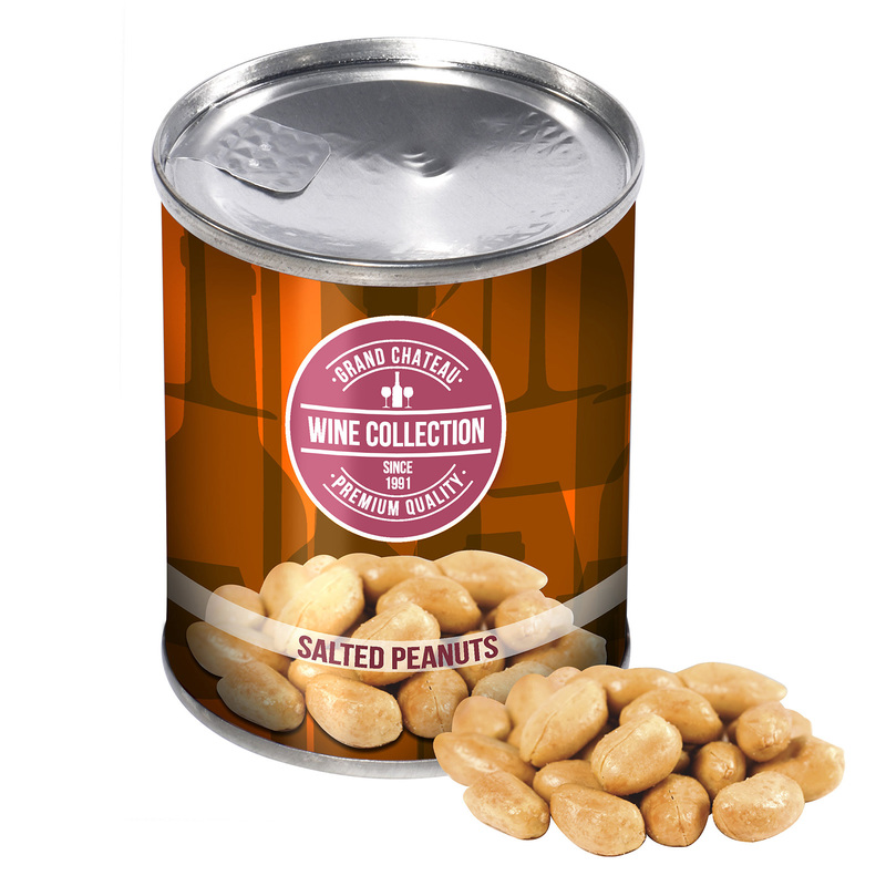 Personalised Can of Salted Peanuts