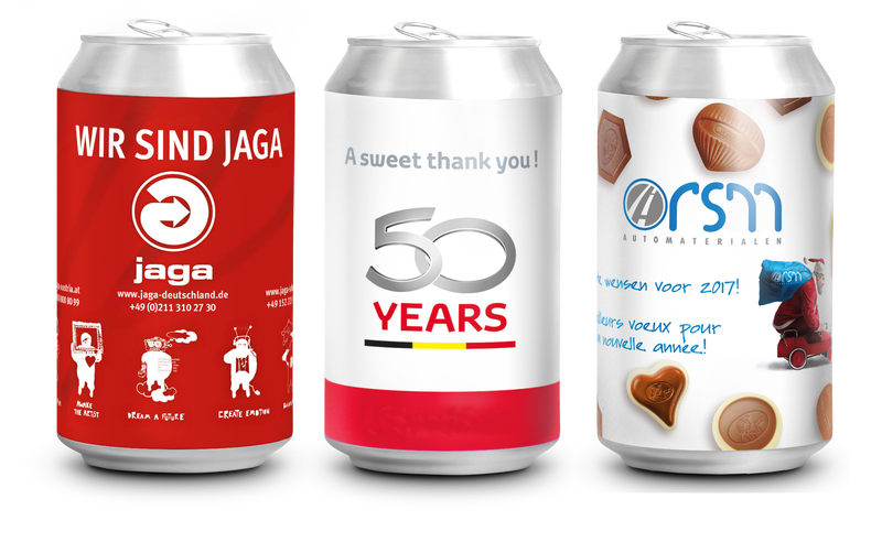 Personalised Cans of Belgian Chocolates