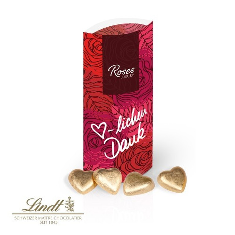 Lindt Heart Personalised Pillar Gift Box