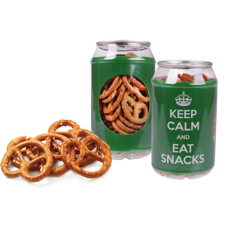 Promotional Can of Pretzels
