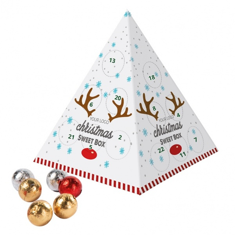 Personalised pyramid shaped chocolate Advent Calendar