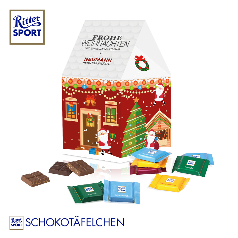 Ritter Sport personalised Christmas House