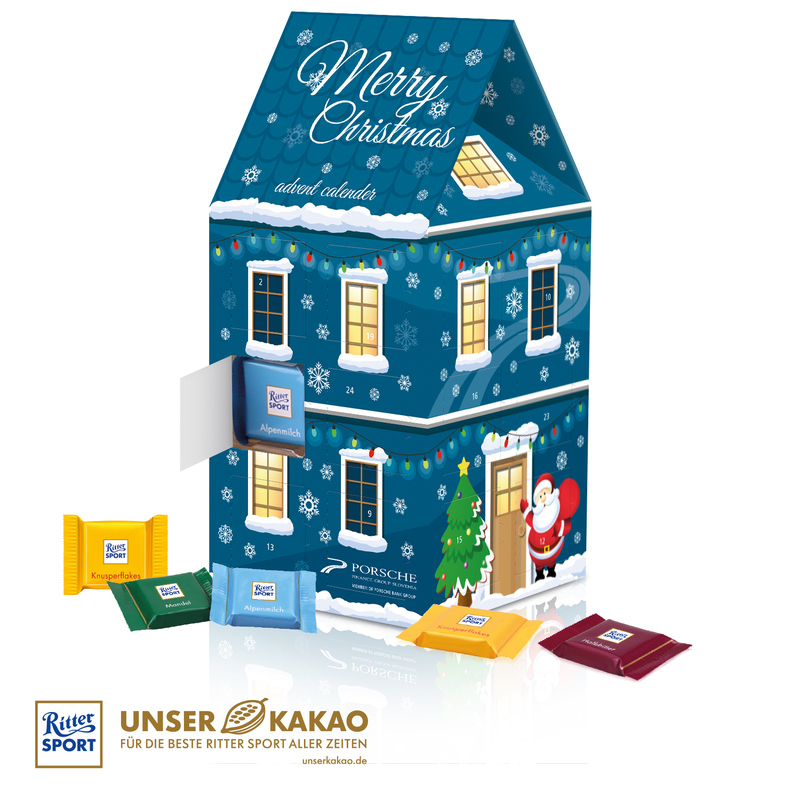 Personalised Ritter Sport 3D House Advent Calendar