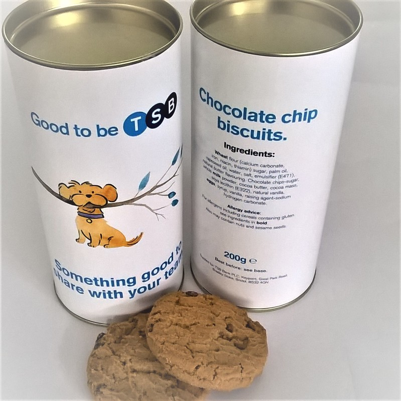 Personalised Biscuit Tubes