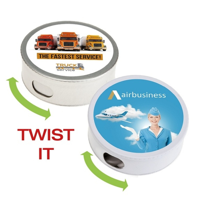 Personalised Twist It Mint Tin