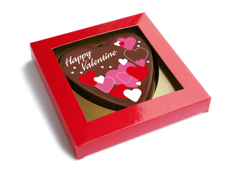 Personalised Belgian Valentine's Heart in Gift Box