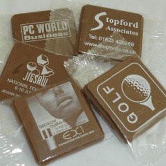Printed chocolate business cards printed logo chocolates printed chocolate business cards colourmoves