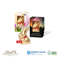 Personalised Lindt Boxed Easter Bunny 10g
