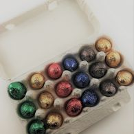 18 Belgian Mini Egg Carton with Personalised Label