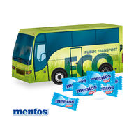 Personalised Coach Filled with Mentos