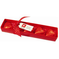 Valentines Box with 5 red hearts