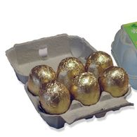 Personalised Easter Egg Cartons with 6 Chocolate Eggs
