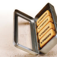 Personalised printed biscuits in a pencil tin