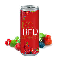 Personalised slim can of Isotonic berry juice