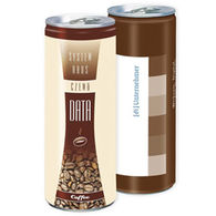 Personalised cans of iced coffee latte