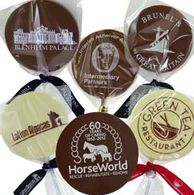Personalised round chocolate Lollipops