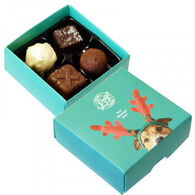 Christmas Personalised 4 choc Truffle Box