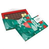 Personalised boxed Christmas chocolate telegram