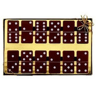 Presentation box of 12 chocolate dominoes