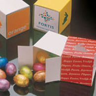 Easter Cube Filled with 75g of Easter Eggs