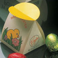 Mono Gift Box Containing Two Easter Eggs.