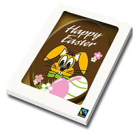Personalised Belgian chocolate Easter Card