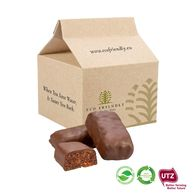 Biodegradable Personalised Box of Chocolate Covered Date Bars