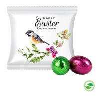 Eco Friendly Personalised Easter Mini Eggs Flow Pack