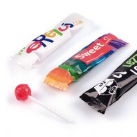 Personalised Lollipop in Flowpack